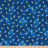 Timeless Treasures I Love You To The Moon And Back Tossed Moons And Stars Navy