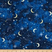 Timeless Treasures I Love You To The Moon And Back Moons And Shooting Stars Navy