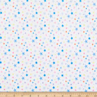 E.Z. Fabric Minky Sleeping Stars White