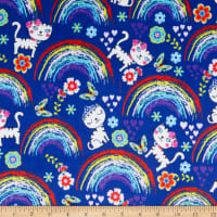 E.Z. Fabric Minky Over the Rainbow Blue