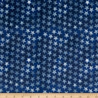 E.Z. Fabric Minky Patriotic Stars Blue