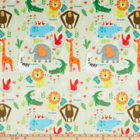 E.Z. Fabric Minky Animal Kingdom Gray