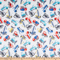 E.Z. Fabric Minky Construction White