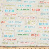 3 Wishes Beach Travel Signs Cream