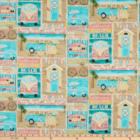 3 Wishes Beach Travel Patch Multi