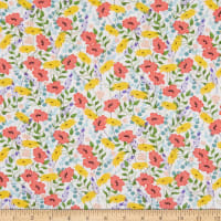 3 Wishes Feed the Bees Allover Floral White