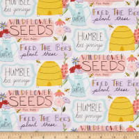 3 Wishes Feed the Bees Garden Words White