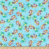 3 Wishes Digital Party Animals Pineapples Turquoise