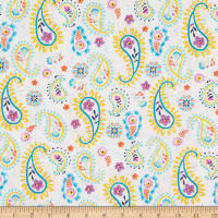 3 Wishes Summer Song Paisley Toss White