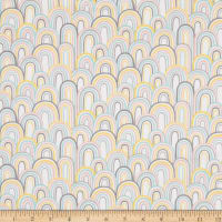 3 Wishes Small and Mighty Rainbows Flannel White