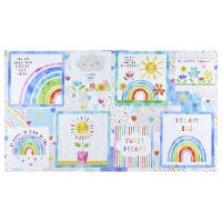 "Wilmington Raindrops and Sunshine Craft 24"" Panel Multi"