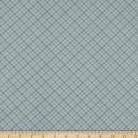 Wilmington A Country Weekend Diagonal Plaid Gray-Green
