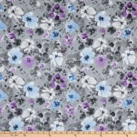 Wilmington Awakenings Large Floral Allover Gray