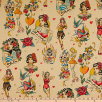 Alexander Henry Nicole's Prints Don't Gamble with Love Antique