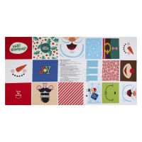 "Riley Blake Face Mask Christmas 24"" Panel Multi"