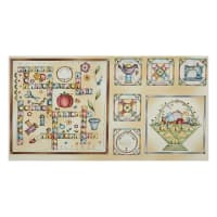 """Michael Miller Born To Sew Sewing Patch Words 24"""" Panel Multi"""