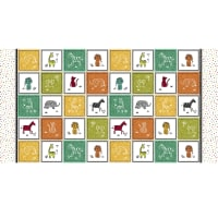 """Michael Miller Out Of Africa Safari Patchwork 24"""" Panel Multi"""