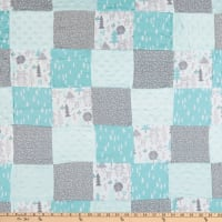 "Fabric Palette Neutral Woods Patchwork Pre-Quilted Flannel 36"" x 44"" Multi"
