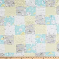 "Fabric Palette Neutral Good Night Stars Patchwork Pre-Quilted Flannel 36"" x 44"" Multi"
