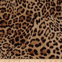 Fabtrends Brushed Stretch Sweater Knit Animal Leopard Camel/Multi
