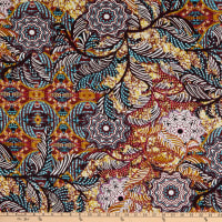 Fabtrends Stretch ITY Puff Abstract Floral Multi