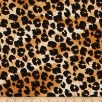 Fabric Merchants Double Brushed Stretch Jersey Knit Leopard Black/Tan