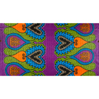 Supreme African Wax Heart of the Turtle 6 Yards Purple/Green