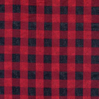 Riley Blake Flannel Buffalo Plaid Red And Black