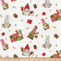 Riley Blake Gnome For Christmas Flannel Main Parchment