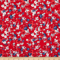 Riley Blake Designs Land Of Liberty Floral Red