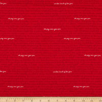 Riley Blake Designs Land Of Liberty Text Red