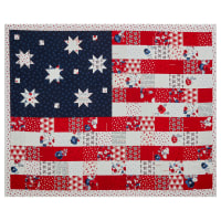 "Riley Blake Land Of Liberty Flag 36"" Panel Red/White/Blue"