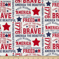 Riley Blake Let Freedom Soar Text Off White