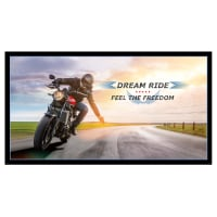 "Dream Ride Feel The Freedom 24"" Panel Black"