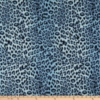 Fabtrends Stretch DTY Knit Animal Leopard Denim