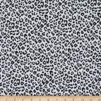 Fabtrends Stretch DTY Knit Animal Cheetah White/Black