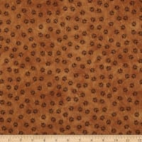 Henry Glass Yellowstone Paw Print Allover Rust
