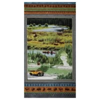 "Henry Glass Yellowstone Scenic 24"" Panel Multi"