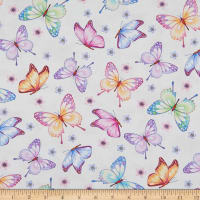 Henry Glass Gossamer Garden Butterflies Cream