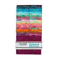 "Island Batik Painted Blossoms 2.5"" Strips 40pcs Assorted"
