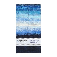 "Island Batik Starry Night Strip Pack (2.5"" Strip)"