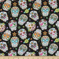 Cotton Sugar Skulls Aqua