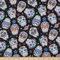 Cotton Sugar Skulls Orange