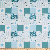 Flannel Baby Patch Blue