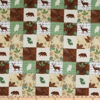 Flannel Wood Patch Olive