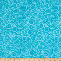 "108"" Wide Back Flannel Swirl Aqua"