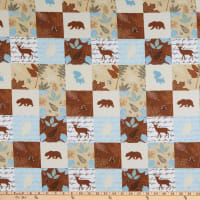 Flannel Wood Patch Tan