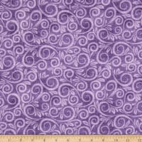 "108"" Wide Back Flannel Swirl Purple"