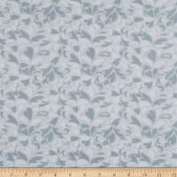 "108"" Wide Back Flannel Bouquet Grey"