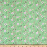 Cotton Dazzly Daisy Lime